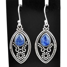 5.16cts natural blue kyanite 925 sterling silver dangle earrings jewelry t2505