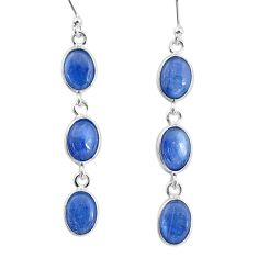 9.77cts natural blue kyanite 925 sterling silver dangle earrings jewelry t2553