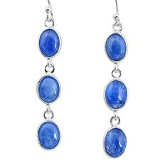 10.22cts natural blue kyanite 925 sterling silver dangle earrings jewelry t2555