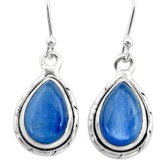 8.73cts natural blue kyanite 925 sterling silver dangle earrings jewelry t42992