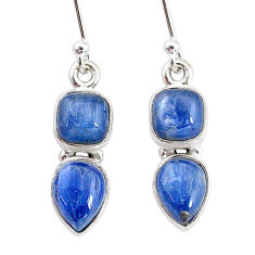 7.42cts natural blue kyanite 925 sterling silver earrings jewelry t2602