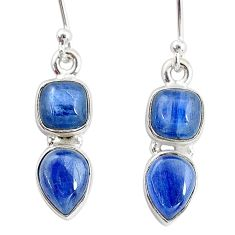 7.56cts natural blue kyanite 925 sterling silver earrings jewelry t2610