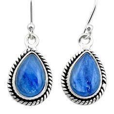 9.53cts natural blue kyanite 925 sterling silver earrings jewelry t42993