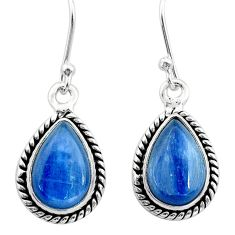 9.20cts natural blue kyanite 925 sterling silver earrings jewelry t42995