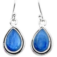 9.18cts natural blue kyanite 925 sterling silver earrings jewelry t42999