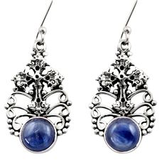 Clearance Sale- 6.62cts natural blue kyanite 925 sterling silver holy cross earrings d40836