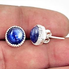 5.13cts natural blue kyanite 925 sterling silver stud earrings jewelry r38561