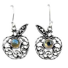 blue labradorite 925 silver dangle apple charm earrings d41065