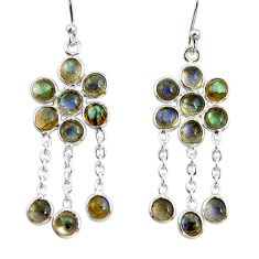 9.65cts natural blue labradorite 925 sterling silver chandelier earrings r33517