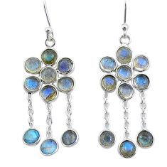 10.33cts natural blue labradorite 925 sterling silver chandelier earrings t4654