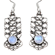 Clearance Sale- 2.24cts natural blue labradorite 925 sterling silver dangle earrings d41014