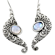 3.42cts natural blue labradorite 925 sterling silver dangle earrings d46897