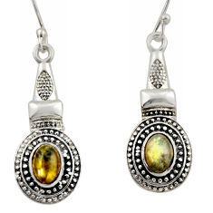 3.33cts natural blue labradorite 925 sterling silver dangle earrings d46946