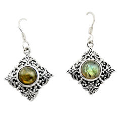 4.38cts natural blue labradorite 925 sterling silver dangle earrings d47015