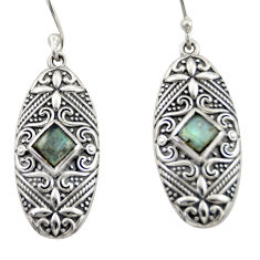 4.12cts natural blue labradorite 925 sterling silver dangle earrings d47154