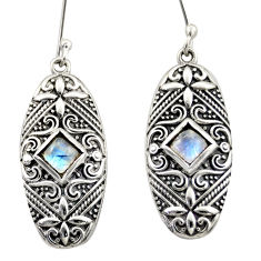 4.00cts natural blue labradorite 925 sterling silver dangle earrings d47157