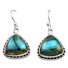 9.05cts natural blue labradorite 925 sterling silver dangle earrings r21606