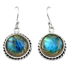 10.60cts natural blue labradorite 925 sterling silver dangle earrings r21612