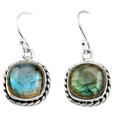 8.06cts natural blue labradorite 925 sterling silver dangle earrings r21613
