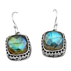 11.83cts natural blue labradorite 925 sterling silver dangle earrings r21882