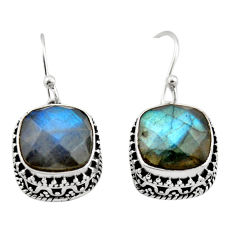 10.44cts natural blue labradorite 925 sterling silver dangle earrings r21889