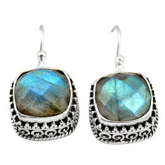 9.72cts natural blue labradorite 925 sterling silver dangle earrings r21896