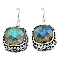 9.72cts natural blue labradorite 925 sterling silver dangle earrings r21899