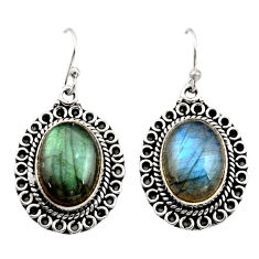 13.01cts natural blue labradorite 925 sterling silver dangle earrings r21990