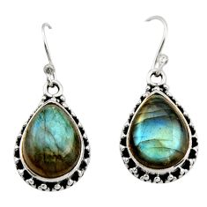 10.60cts natural blue labradorite 925 sterling silver dangle earrings r21996
