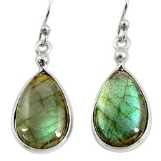 10.89cts natural blue labradorite 925 sterling silver dangle earrings r29181