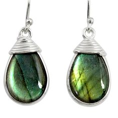 12.57cts natural blue labradorite 925 sterling silver dangle earrings r29196