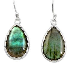 10.72cts natural blue labradorite 925 sterling silver dangle earrings r30382