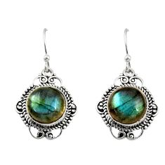 10.02cts natural blue labradorite 925 sterling silver dangle earrings r30942