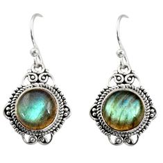 9.90cts natural blue labradorite 925 sterling silver dangle earrings r30943