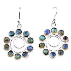 9.72cts natural blue labradorite 925 sterling silver dangle earrings r35573
