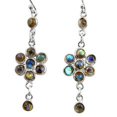 9.72cts natural blue labradorite 925 sterling silver dangle earrings r35651