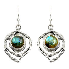 5.75cts natural blue labradorite 925 sterling silver dangle earrings r39174