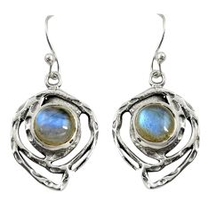5.75cts natural blue labradorite 925 sterling silver dangle earrings r39175