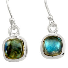 3.60cts natural blue labradorite 925 sterling silver dangle earrings r41106