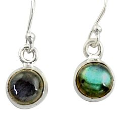 4.03cts natural blue labradorite 925 sterling silver dangle earrings r41108