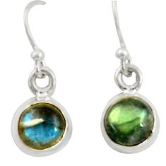 4.05cts natural blue labradorite 925 sterling silver dangle earrings r41111