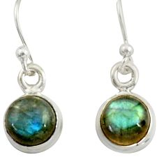 3.79cts natural blue labradorite 925 sterling silver dangle earrings r41113
