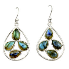 10.15cts natural blue labradorite 925 sterling silver dangle earrings r42296