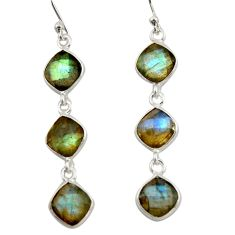 10.33cts natural blue labradorite 925 sterling silver dangle earrings r42297