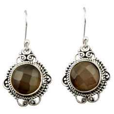 8.49cts natural blue labradorite 925 sterling silver dangle earrings r42327