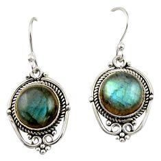 8.21cts natural blue labradorite 925 sterling silver dangle earrings r42334