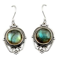 8.32cts natural blue labradorite 925 sterling silver dangle earrings r42335