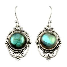8.51cts natural blue labradorite 925 sterling silver dangle earrings r42336
