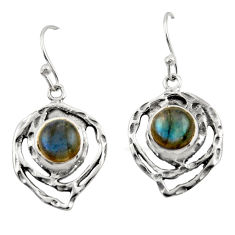 6.20cts natural blue labradorite 925 sterling silver dangle earrings r42871