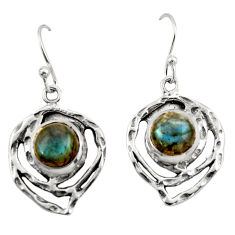6.19cts natural blue labradorite 925 sterling silver dangle earrings r42873
